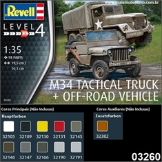 M34 Tactical Truck + Off-Road Vehicle - Revell - 1/35 - M34 Tactical Truck + Off-Road Vehicle - Revell - 1/35