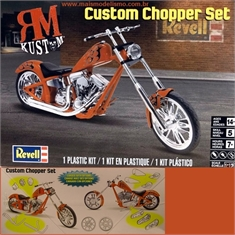 Moto CUSTOM CHOPPER Set - Revell - 1/12 - Moto CUSTOM CHOPPER Set - Revell - 1/12
