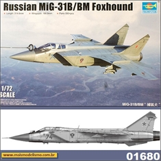 Russian MiG-31B/BM Foxhound - Trumpeter - 1/72