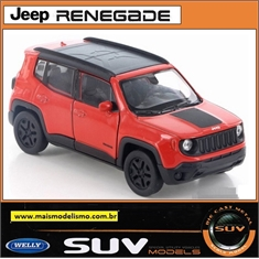 Jeep Renegade Trailhawk Laranja - Welly - 1/32