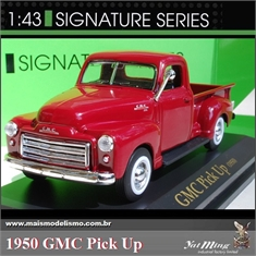 1950 - GMC PICK-UP Vinho - Yatming - 1/43 - 1950 - GMC PICK-UP VINHO - Yatming - 1/43