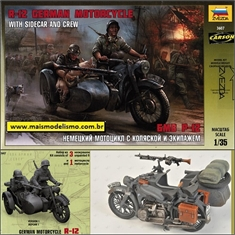 BMW R-12 German Motorcycle with Sidecar and Crew - Zvezda - 1/35 - BMW R-12 German Motorcycle with Sidecar and Crew - Zvezda - 1/35