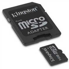 Memory Card KINGSTON micro-SD 1Gb com adaptador SD - Memory Card KINGSTON microSD 1GB com adaptador SD