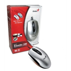 Mouse GENIUS PS/2 optico Traveler 100 prata