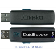 Pen Drive KINGSTON DT100/ 4Gb Unidade flash USB (Preto) DATA TRAVELER - Pen Drive KINGSTON DT100/4Gb