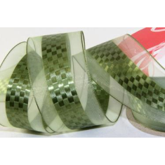 FITA ORGANZA 1640/2837-VERDE (LARG.36MM) SA -10MT - FITA DEC. BS 1640/36/2837 SA -10MT -RL