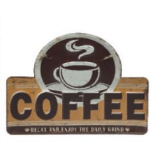 Placa de Metal Coffee 30CM