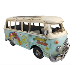 Kombi Decorativa de Metal Antiga