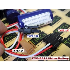 1756-BA2 - BATERIA 1756BA2,Batteries BACK-UP, Replacement Battery Allen Bradley ROCKWELL AUTOMATION 1756-BA2 - ControlLogix L6X Ser B, PLC & MACHINE - 1756-BA2 - Allen Bradley Battery / Plug Femea  Type101