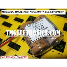 MR-BAT6V1SET - Bateria Mitsubishi Servo Motor, Battery Replacement for Mitsubishi Alternating Current Drive MR-J4 Part Number 2CR17335A WK17, MR-BAT6V1SET - Bateria Dupla 6V, Double Fuji/ FDK/ Original - JAPAN