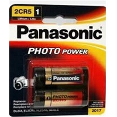 2CR5 - Bateria 6V Dupla Lithium, 2CR5 6V Lithium Battery, Power Battery NON-Rechargeable - Batt. 6v / 2CR5 Photo Lithium - Fabric PANASONIC