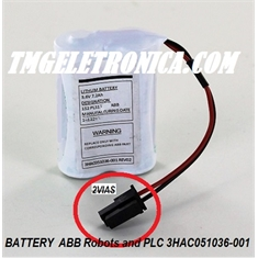3HAC051036-001 - BATERIA ABB Robot Battery ROBOTICS 3HAC051036  3,6V. 7,2Ah, ABB Industrial Robot Battery type  3HAC051036-001 - BATTERY BACK-UP PACK ABB Robots - 3HAC051036-001 - BATTERY BACK-UP PACK