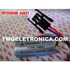A6BAT - BATERIA MITSUBISHI 3.6V, A6BAT, A6 BAT Mitsubishi Servo Amplifier - PLC Logic Battery PLC Lithium Battery A1FXCPU Robot Control battery Li-ion High Energy - Produto Similar 100% Tipo A6BAT - BATERIA 3,6V