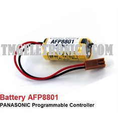 AFP8801 - Battery Panasonic Lithium PLC Computer Backup Battery, BATTERY AFP 8801 LITHIUM CNC & PLC AFP8801 fits several PANASONIC - AFP8801 - BATERIA PLC AFP8801 fits several PANASONIC,PLC/ CLP (conector Marron)