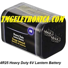 4R25 - Bateria 6 Volts - Super Heavy Duty Para Lanterna / Battery 4R25 Heavy Duty 6V Lantern Battery - BATERIA 6VOLTS Super Heavy Duty Lanterna