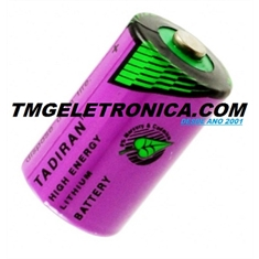 Bateria Lithium 3,6V, Size 1/2AA - Alta Temperatura Lithium Thionyl Chloride 3.6V Battery Size 1/2AA, High Temperature 55°C Á  Max.130°C/ 266 °F - Battery NOT Rechargeable - Batt Tadiran Size 1/2AA - Model. C/Fio e Conector