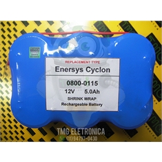 0800-0115 - BATERIA, Battery 0800-0115 Cyclon Enersys Monobloc Battery - 12Volts 5.0Ah Enersys Cyclon 0800-0115 Battery - 12V 5.0Ah Sealed Lead Rechargeable (Shrink Wrap) - 0800-0115 - Bateria Similar, Battery Cyclon Enersys Monobloc - 12Volts 5.0Ah Rechargeable (Shrink Wr
