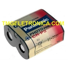 CR-P2 (223A) - Bateria 6V Photo Power Battery, Bateria para Câmera Fotográfica - CR-P2 - Bateria 6Volts/ Energizer CR-P2 - Bateria 6Volts/ SANYO (Sob Consulta)