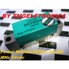 BGY585A - TRANSISTOR CATV WIDEBAND AMPLIFIER Power Module PUSH-PULL Philips 40-550 MHz 24vdc 77ch, SOT-115
