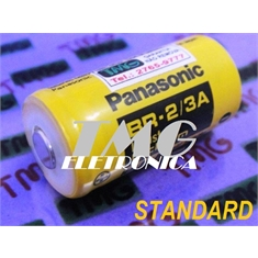 BR2/3A - BATERIA Panasonic BR-2/3A  3Volts, Battery Panasonic Lithium Rechargeable No, Bateria Lithium BR-2/3A 3V, BACK-UP PLC,ROBOT,CNC,MACHINE - Bateria 3V, BR 2/3A - STANDARD