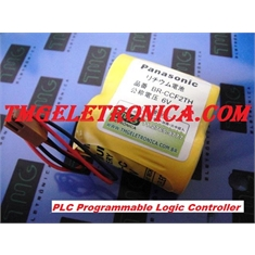 BR-CCF2TH - BATERIA GE Fanuc 6V, Battery BRCCF2TH 6Volts 5000mAh, PLC, IHM Robotic Batteries Controller, GE Fanuc BR-CCF2TH 5Amp, A98L-0001-0902, A06B-0073-K001 Genuine Panasonic e Similar - BR-CCF2TH - Batt 6V Back-up CNC/GENUINE PANASONIC, Japan C/Conector(marrom)
