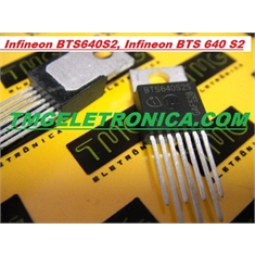 BTS640 - TRANSISTOR POWER SWITCH HIGH SIDE POWER, BTS 640 4AMP Hi Side 4A, TO-220 7PINOS - BTS640S2S - POWER SWITCH 7pinos