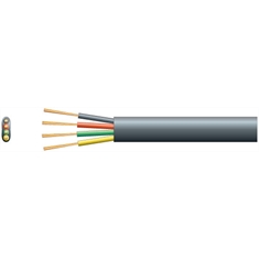 CABO CHATO LISO 4Vias, FIO CHATO PARA TELEFONIA 26AWG, 4VIAS, Telephone 4 Wire Conductor Cord Cable Flat - CORES - Cabo liso Chato de 4Vias P/Telephone - Cor cinza