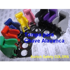 Capa Protetora para Chave Alavanca,Toggle Switch Guard Cockpit,Safety Switch Colors - Capa Cor - Azul