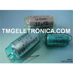 CAPACITOR Á ÓLEO, High-Voltage Capacitors OIL Capacitance  0,0047µF/4K7 á  0,47UF /470K, CAPACITOR CHERRY á Óleo - Discontinued/Obsolete Diversos Modelos - Capacitors OIL 0,033UF /33K - 1600V 14MMX32MM