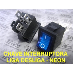 Mini Chave Gangorra Retangular Liga Desliga, Mini chave liga desliga 2 Posições 4Term, On-Off Rocker & Toggle Switch Size 15Mm X 21Mm, On-Off Rocker & Toggle Switch - Chave Liga e Desliga - Luz Neon VERDE