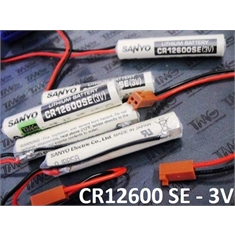 CR12600/SE - BATERIA LASER LITHIUM 3V, FANUC IC697ACC701, SANYO CR12600SE Laser Lithium Dioxide Battery Non-rechargeable - CR12600SE-3V SANYO FDK - Modelo Standard