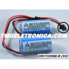 CR17335SE-R 3Volts - BATERIA LITHIUM 3V MITSUBISHI CR17335SE-R, BACK-UP, PLC,CNC,ROBOT, MACHINE COM FIO E CONECTOR - CR17335SE-R 3Volts - BATERIA LITHIUM PLC MITSUBISHI