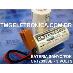 CR17335SE - BATERIA LITHIUM 3V SANYO,FDK FIO E CONECTOR BACK-UP, PLC,CNC,ROBOT, MACHINE - CR17335SE - BATERIA LITHIUM 3V SANYO fdk/ JAPAN / STANDARD