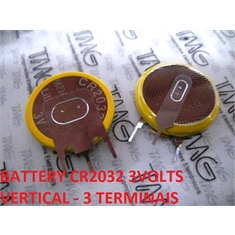 CR2032- Bateria Lithium 3Volts, Tipo Moeda, Botão, Battery 3.0V Lithium, Battery Coin, Button Cell Batteries, Coin Battery - Terminal Modelo Nº59