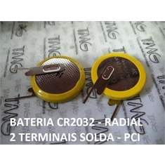 CR2032- Bateria Lithium 3Volts, Tipo Moeda, Botão, Battery 3.0V Lithium, Battery Coin, Button Cell Batteries, Coin Battery - Terminal Modelo Nº77