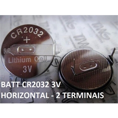 CR2032- Bateria Lithium 3Volts, Tipo Moeda, Botão, Battery 3.0V Lithium, Battery Coin, Button Cell Batteries, Coin Battery - Terminal Modelo Nº79