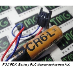 CR6-L - BATERIA FUJI CR6.L 3Volt, Battery Lithium CR6L Backup Battery, PLC, CNC, Automotive Robots ARM - Primary Controller - CR6-L - 3Volt Lithium ORIGINAL FUJI FDK C/ FIO E CONECTOR