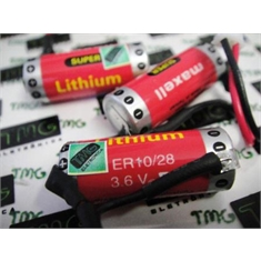 ER10/28 - BATERIA ER10/28 3,6V, Maxell ER10/28, Maxell 3.6V ER10280, ER10/28 2/3AAA, Super Lithium Battery Thionyl Chloride 500mAh, Battery High Performance BACK-UP Machine, Robot, IHM, PLC & CNC - ER10/28 - BATERIA 3,6V, Maxell JAPAN P/ Entrega em Até 25dias Uteis