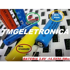 ER14505 - BATERIA 3,6Volts LITHIUM size AA, BATTERY LITHIUM 3.6V, AA CNC,PLC,MACHINE - Bateria 3,6V, AA - STANDARD