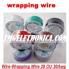 Fio Wire Wrap Ultra Fino Rígido - Prototyping & Repair Wire Cables, Wires, Wire Wrap 28AWG OU 30AWG Wire Wrapping Cable Wrap Color Insulated - Fracionado vendido por Metro - FIO WIRE WRAP Rigido  -  COR VERDE