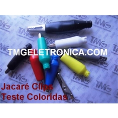 GARRA JACARE 10AMP, 25MM - Alligator Test Leads,Clips Cable Alligator,COLORIDAS - Garra 25mm,10Amp - Azul