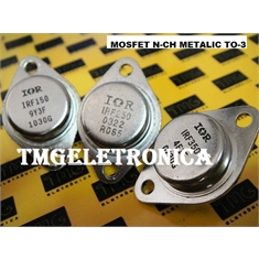 IRF150 - Transistor IRF-150 MOSFET N-CHANNEL 100V 38A - TO3 METALICO - IRF150 - TRANS. N CHANNEL MOSFET, 100V, 38A, TO-3