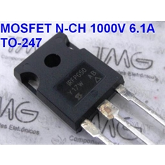 IRFPG50 - TRANSISTOR Power Field-Effect Transistor IRFPG 50 MOSFET N-Ch 1000V 6,1A 190W - TO-247AC - IRFPG50 - TRANSISTOR Power Field-Effect