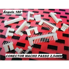 CONECTOR KK,Mini MACHO PCB Connector Socket wire-board Mini Male,PASSO 2,54 milímetros - DE 2 Á 20vias - Conector KK Macho 180º - 19Vias, 2.54Mm