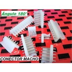 CONECTOR KK MACHO, CONECTOR PCB KK Male, Connector Header Through Hole , KK Series, HEADER, from 2 to 20 Positions,PASSO 3,96mm - DE 2 Á 20vias - Conector KK Macho Passo 3.96Mm - 2Vias/ ângulo 90º
