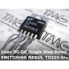 LT1074 - CI STEP-DOWN REGULATOR Conv DC-DC Single Step Down 7.3V~45V  TO-220 5Pinos - LT1074CT - TO-220 5Pinos/ Linear Technology