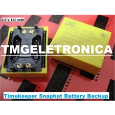 M4T32-BR12SH1 - Bateria M4T32BR12SH1 2,8Volts, Backup 120mAh, BATTERY BACKUP POWER FOR. NON-VOLATILE Lithium Power Source Timekeeper Snaphat - 4PINOS - M4T32-BR12SH1,Bateria 2,8V/120MAh Timekeeper Snaphat