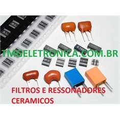 Filtro Ceramico,Ressonador Ceramico,Crystal Ceramic Resonator, bandpass Quartz filters, resonators,kilohertz & megahertz  2Pinos - Ressonador,Filter ceramic - 16mhz