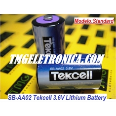 SB-AA02 - Bateria Tekcell 3.6V, SBAA02 Tekcell 3.6V Lithium Battery 1/2 AA Size, PLC industrial Tekcell Lithium Thionyl Chloride Cylindrical high - NOT Rechargeable - SB-AA02 - Battery Tekcell Lithium 3.6V - standard