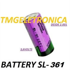 SL-361 - Bateria 3,6v Lithium 2/3AA Lithium , Tadiran SL361 3.6V Lithium Thionyl Chloride 2/3 AA  BACKUP PLC,CNC,MACHINE & ROBOT,Non-Rechargeable - SL-361 - C/Fio e Conector 3,6Volts/ Tadiran